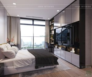 thiết kế phòng ngủ master park 2 vinhomes central park